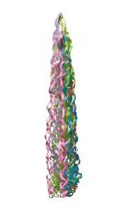 Pompon de rubans multicolores pastel pour ballon 15 x 86 cm