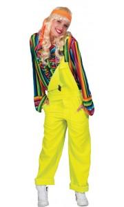 Salopette femme jaune fluo