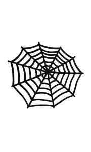 Toile d'araignée à poser ou suspendre Halloween 50 cm