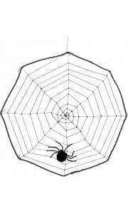 Toile d'araignée avec araignée Halloween 40 cm