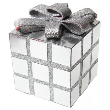 Cube argent décoration Noël