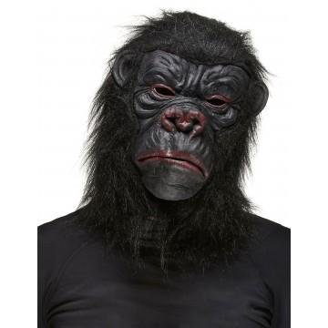 Masque Gorille en latex et fourrure Halloween