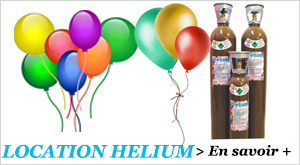 Location d'helium en magasin