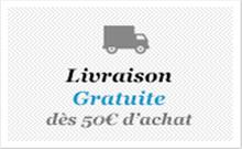Livraison gratuite dès 50€ d'achat