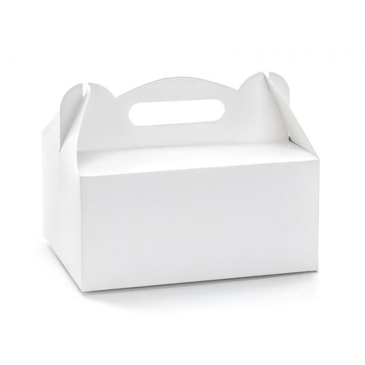 Lot de 10 boîtes à gâteaux blanches 19 x 14 x 9 cm