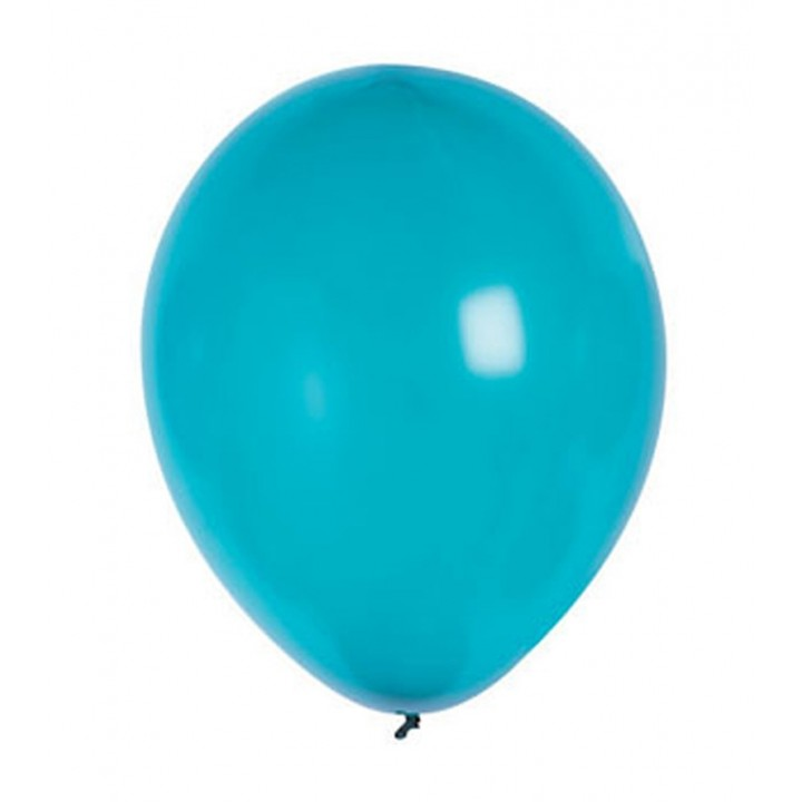 Lot de 20 ballons de baudruche en latex nacré métallisé turquoise