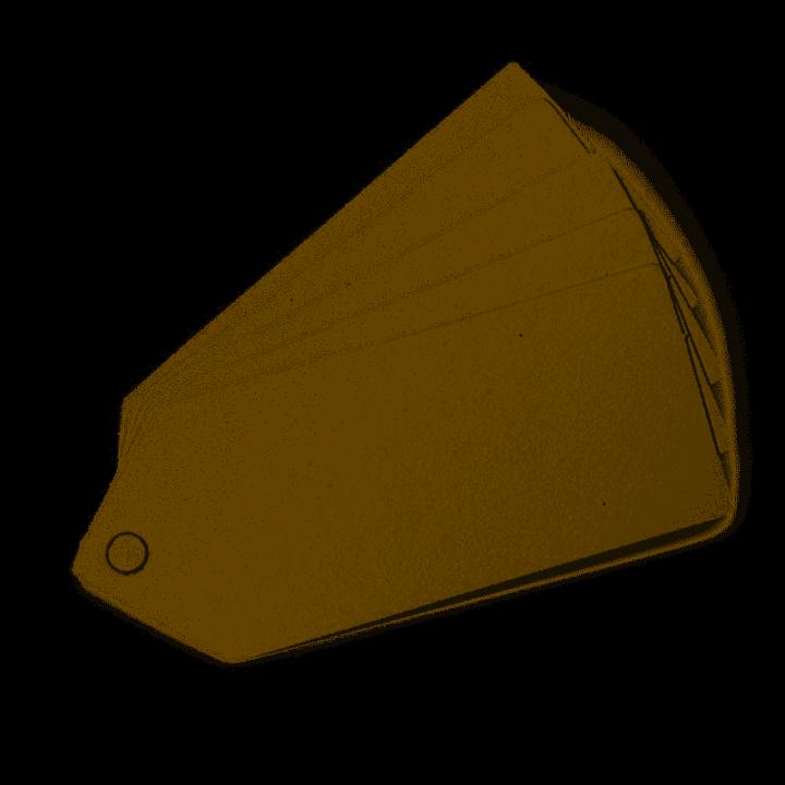 Lot de 24 étiquettes perforées Ivoire 5 x 2 cm