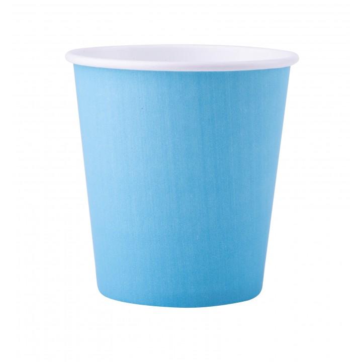 Lot de 25 gobelets en carton bleu ciel 20 cl