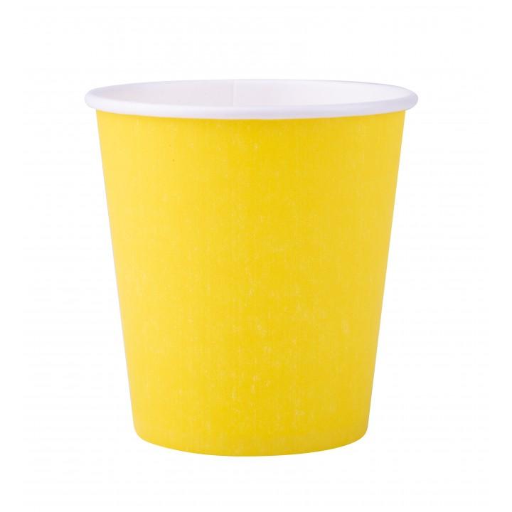 Lot de 25 gobelets en carton jaune 20 cl