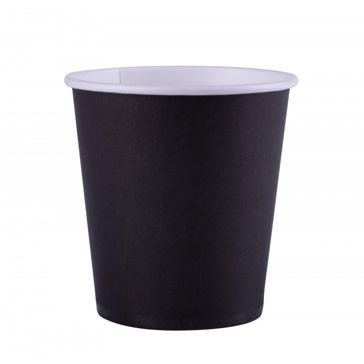 Lot de 25 gobelets en carton noir 20 cl