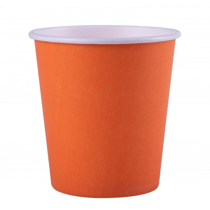 Lot de 25 gobelets en carton orange 20 cl