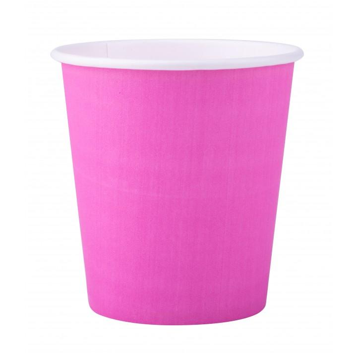 Lot de 25 gobelets en carton rose fuschia 20 cl