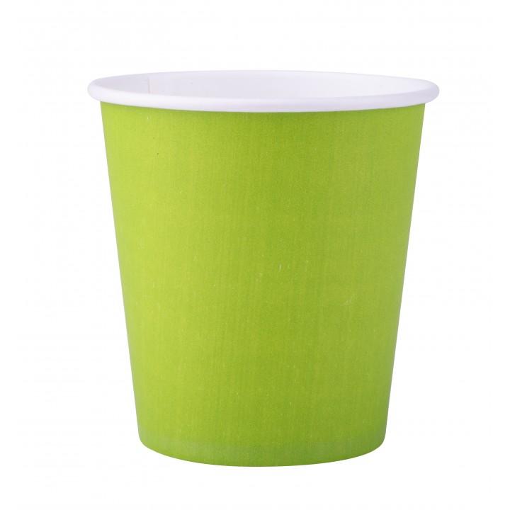 Lot de 25 gobelets en carton vert anis 20 cl
