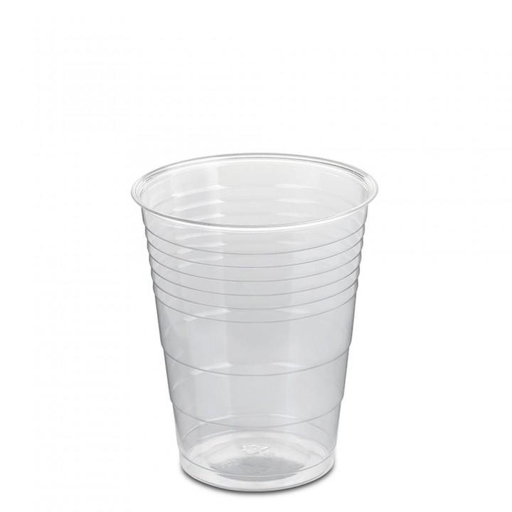 Lot de 50 gobelets transparents biodégradables 20 cl