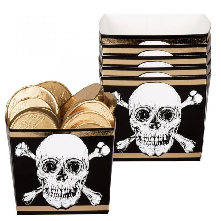 Lot de 6 Boîtes à bonbons anniversaire pirate