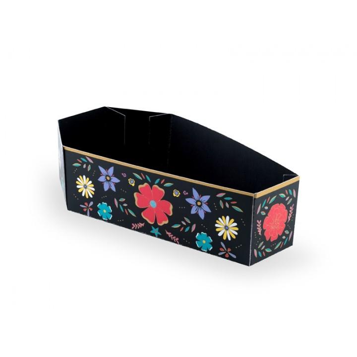 Lot de 6 boîtes à bonbons cercueil Jour des morts Halloween 8 x 15 x 5 cm