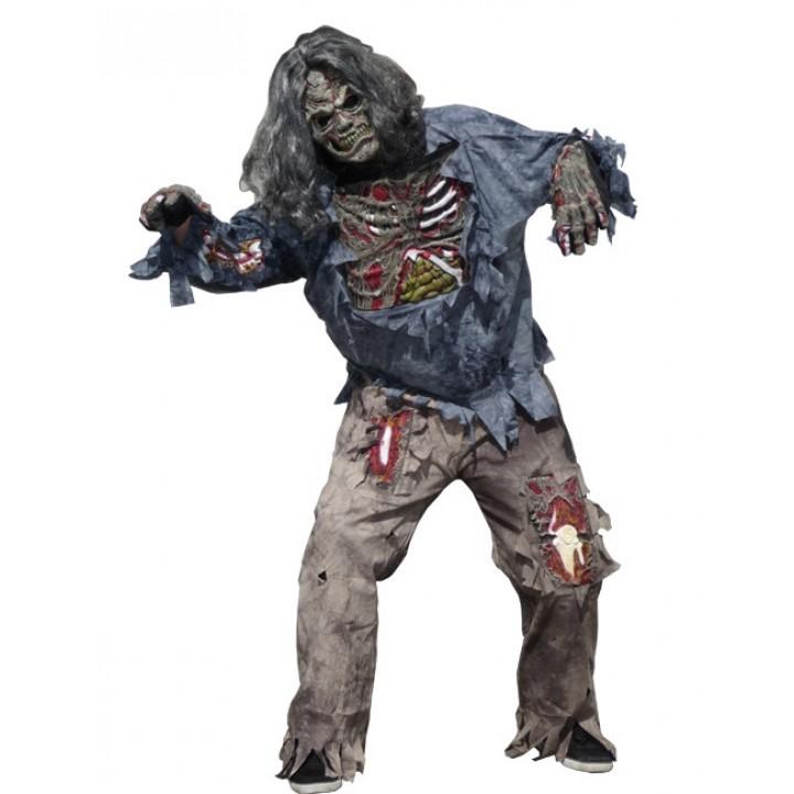 Déguisement Zombie chemise avec relief 3D Halloween taille standard