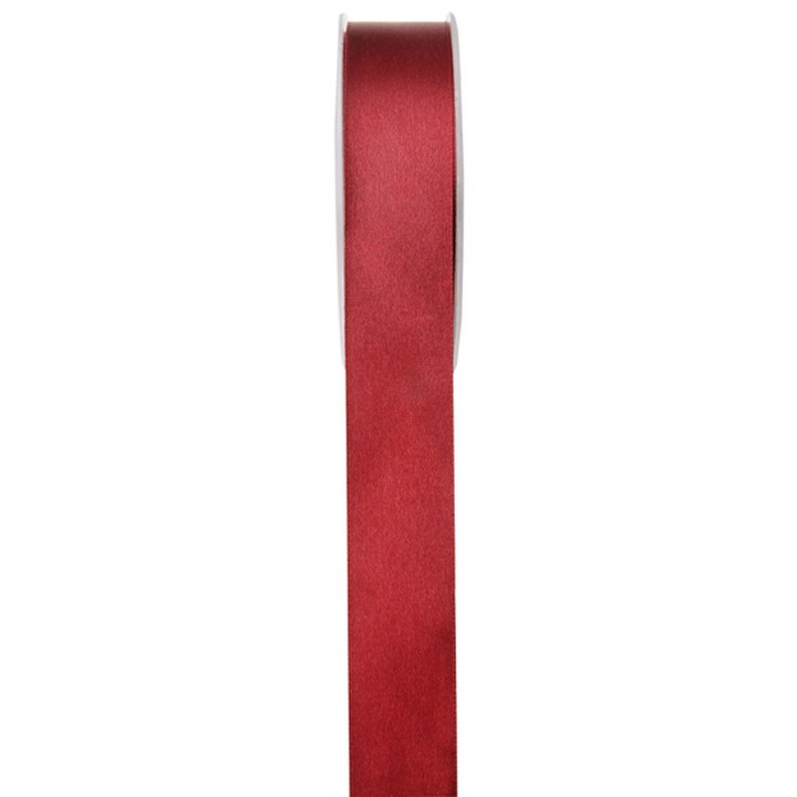 Rouleau de ruban satin rouge foncé 25 m