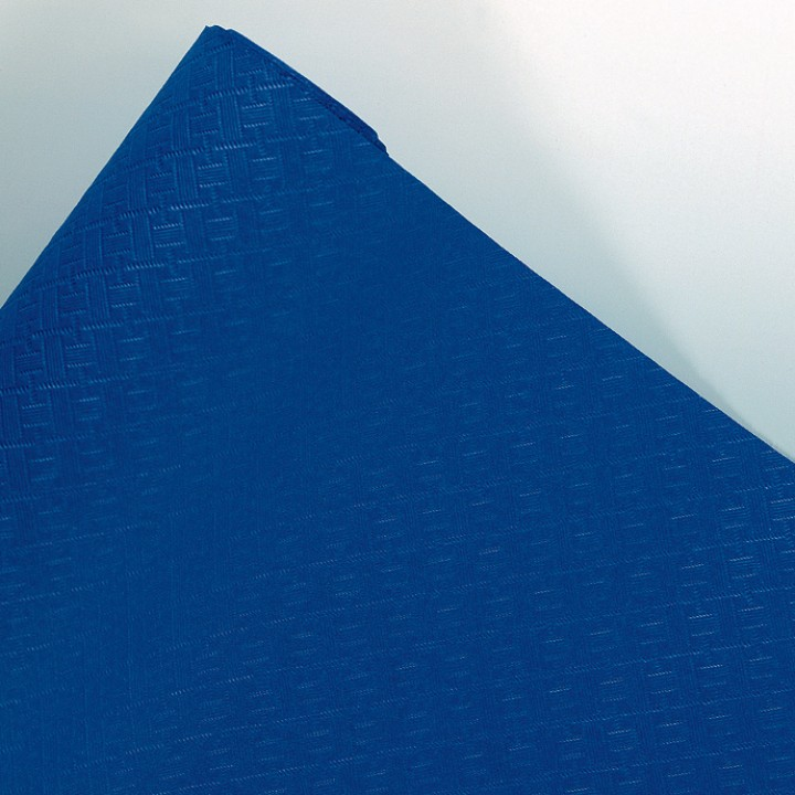 Nappe en papier gaufré bleu royal 10 M