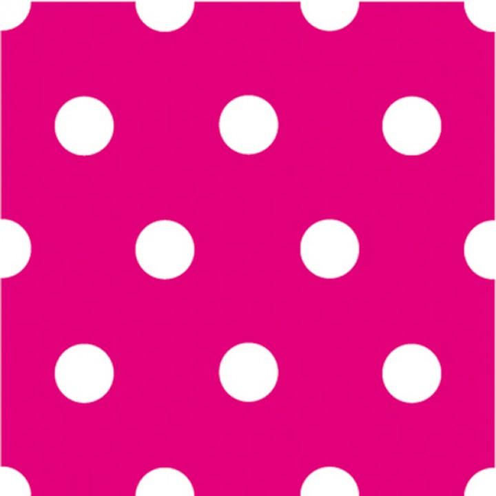Lot de 20 serviettes intissé rose à pois 25 x 25  cm