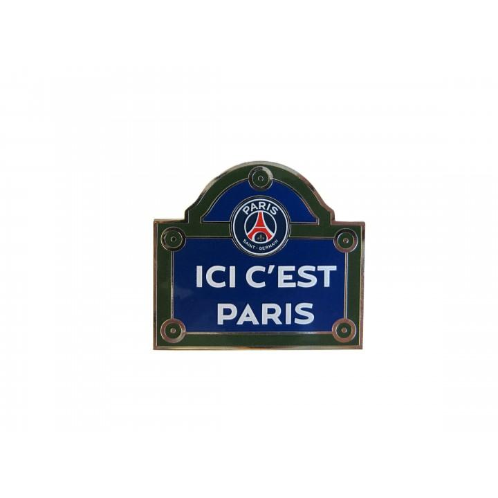 Aimant PSG plaque de rue Ici c'est Paris
