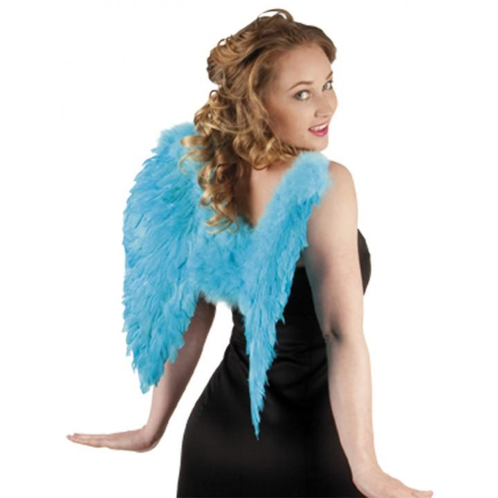 Ailes d'ange bleu turquoise  pour adulte taille 50 cm