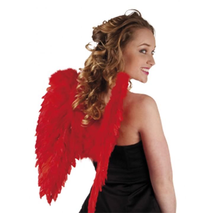 Ailes d'ange rouges pour adulte taille 50 cm