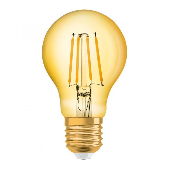 Ampoule led socle doré 9 x 17 cm
