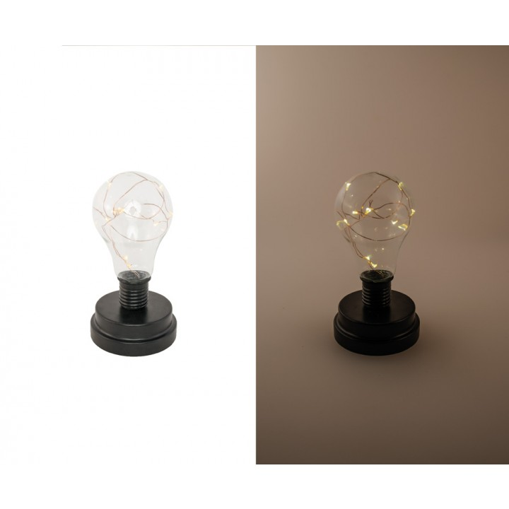 Ampoule led socle noir 9 x 17 cm
