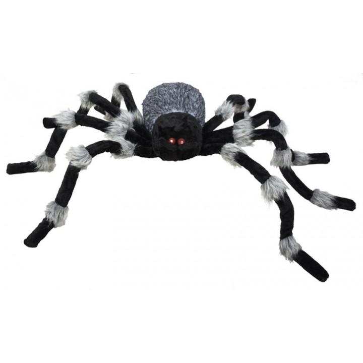 Araignée géante halloween noire et grise 50x60 cm