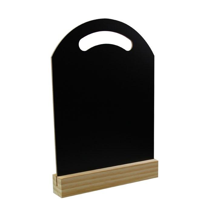 Ardoise noire avec support 40 x 30 x 10,5 cm