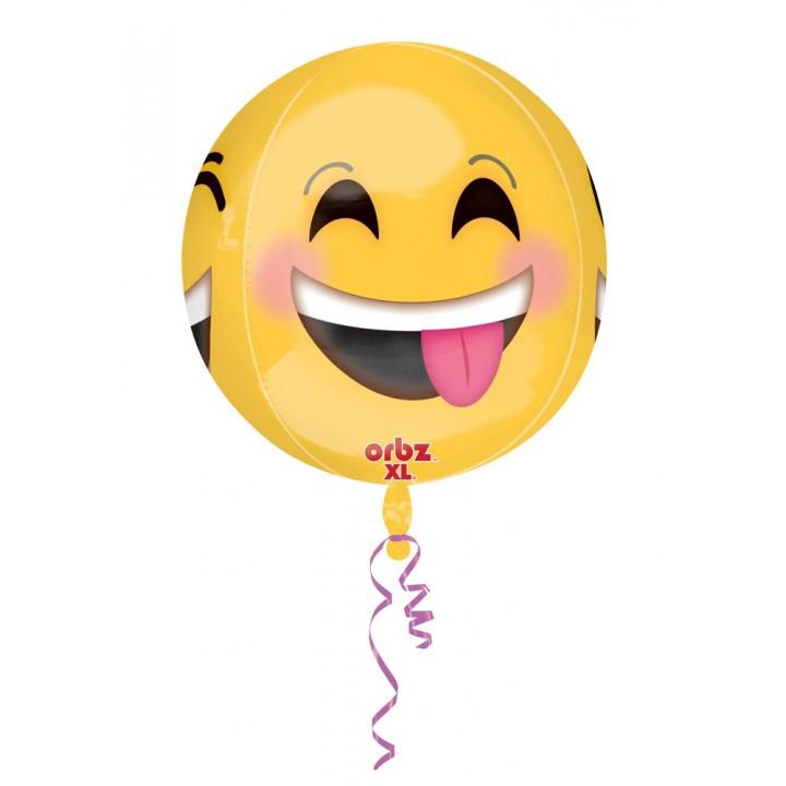 Ballon Emoticon orbz 38 x 40 cm