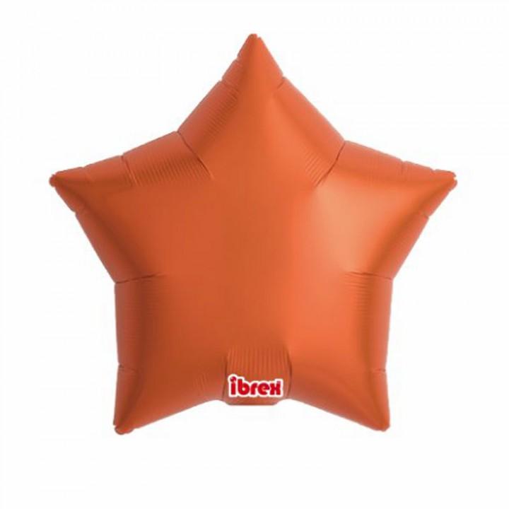 Ballon étoile satin luxe ambre 43 cm