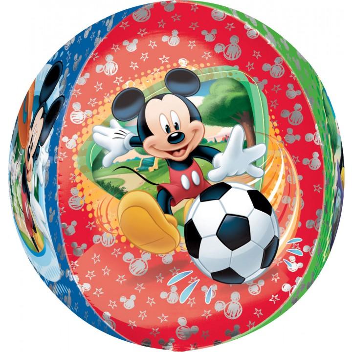 Ballon 3D Mickey boule ORBZ aluminium