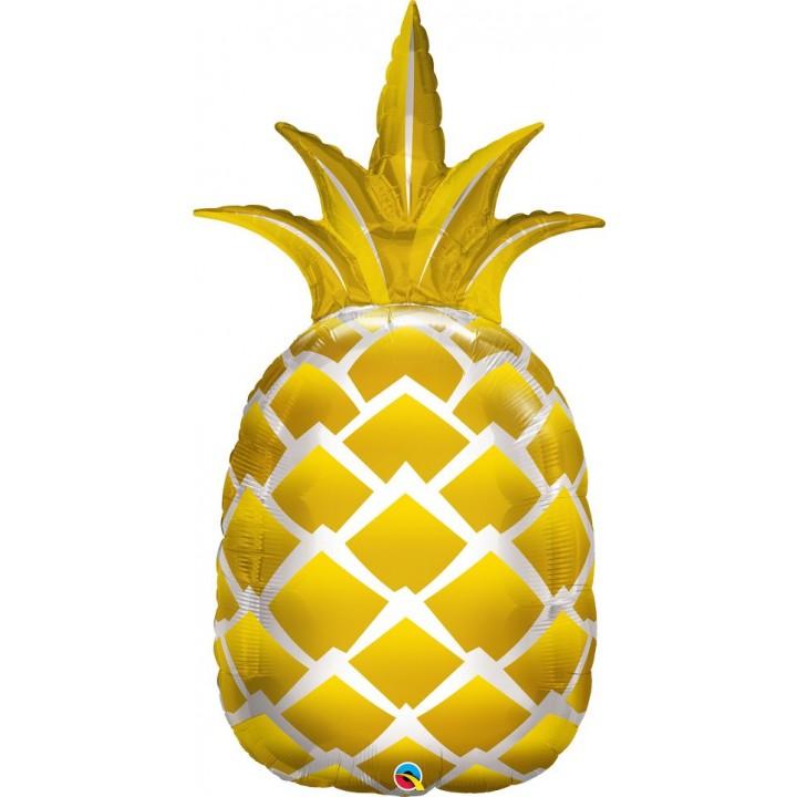 Ballon Ananas or 110 cm