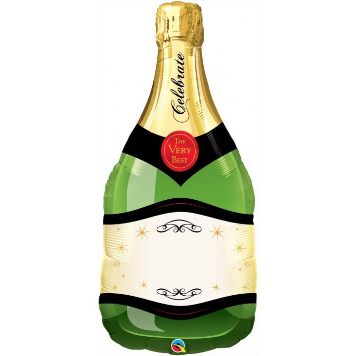 Ballon Bouteille de champagne personnalisable aluminium