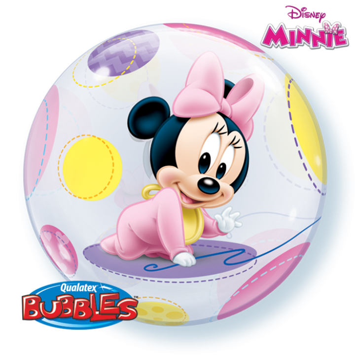 Ballon Bubble Baby Minnie 55 cm