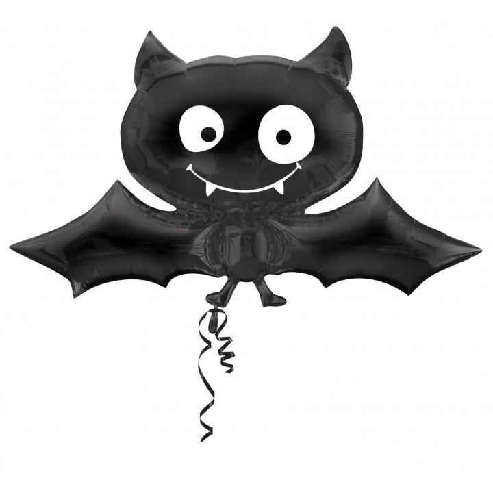 ballon chauve souris noir halloween 66 x 78 cm. Black Bedroom Furniture Sets. Home Design Ideas