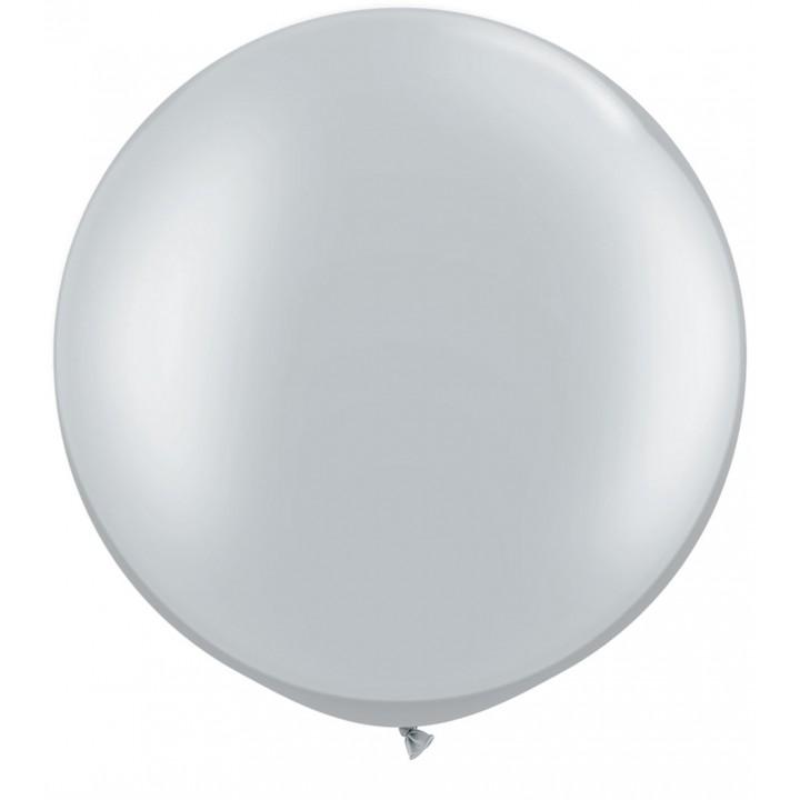 Ballon de baudruche géant en latex opaque argent