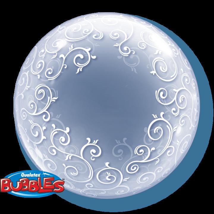 Ballon Déco bubble Arabesques 60 cm