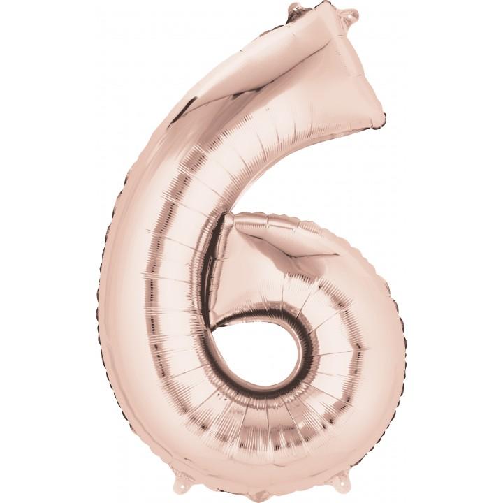 Ballon forme Chiffre 6 cuivre 55 x 88 cm