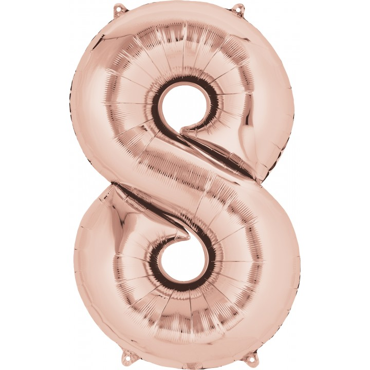 Ballon forme Chiffre 8 cuivre 53 x 88 cm