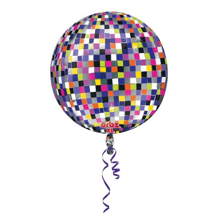 Ballon Happy New Year Boule Disco ORBZ 36 x 40 cm
