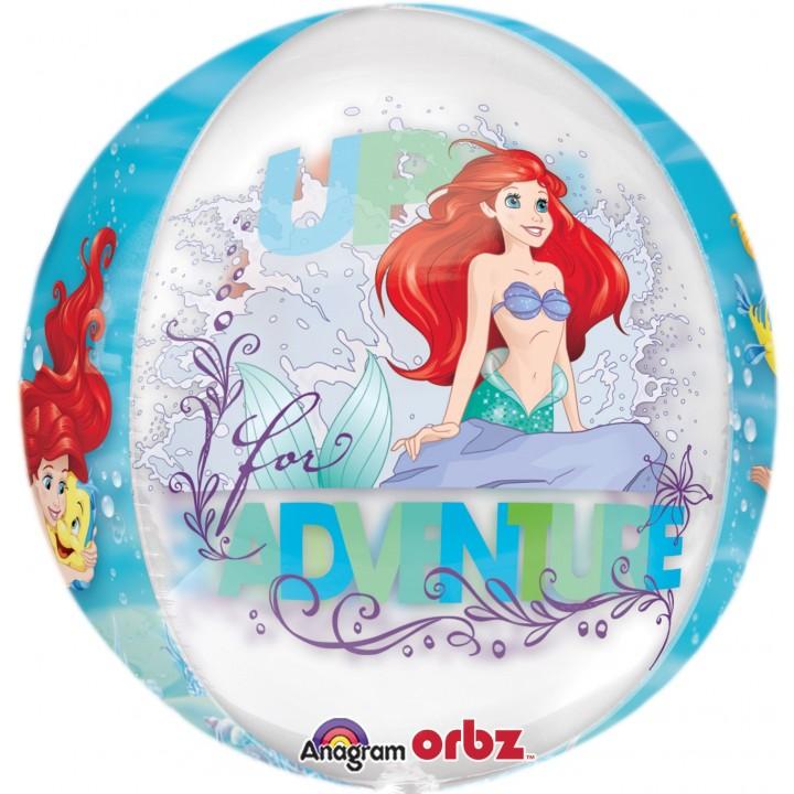 Ballon  La petite Sirène Clear Orbz 38 x 40 cm