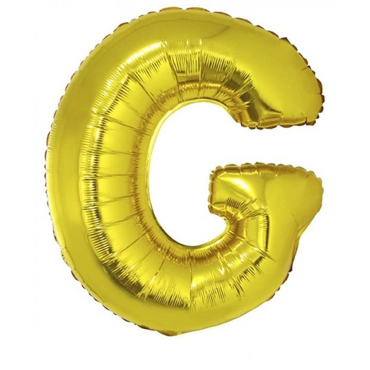 Ballon lettre G aluminium or