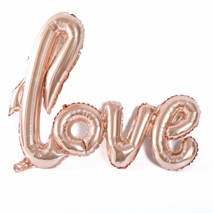 Ballon Love rose gold métallisé 1 m x 67,6 cm