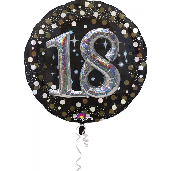 Ballon Sparkling Celebration Birthday 18 ans