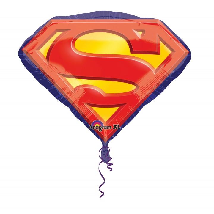 Ballon Superman Emblème 66 x 50 cm