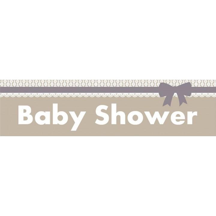 Bannière baby-shower garçon 2,44 m