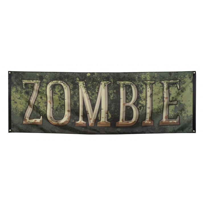 Bannière zombie halloween 74x220 cm